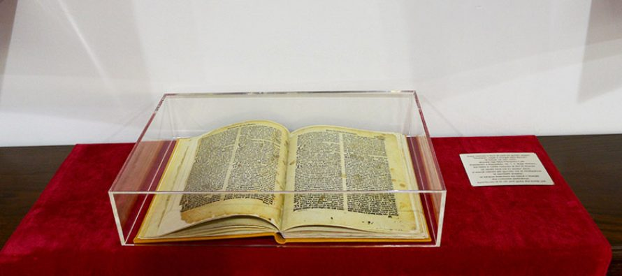The Missal displayed at President's office