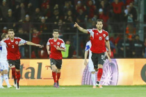 Albania claim historic victory to keep their Euro qualifying hopes alive