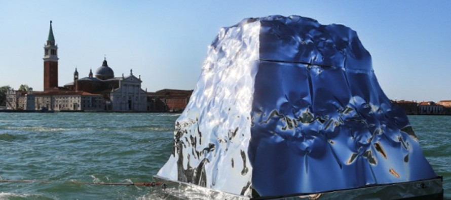 Helidon Xhixho showcases iceberg installation at Venice Biennale