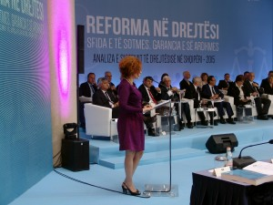 EU Ambassador Romana Vlahutin said the reform should be about offering a better system, not just changing existing laws. (Photo: EU Delegation in Tirana/Handout)