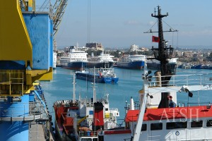 The Durres sea port is Albania's hub for international trade. (Photo: Archives)