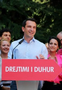 rion Veliaj, a 35-year-old former civil society activist and the previous welfare affairs minister, declared victory Tuesday. (Photo: Tirana Times/Veliaj campaign handout)