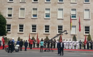 German Chancellor Angela Merkel is visiting Tirana at the start of a regional tour. (TT Photo)