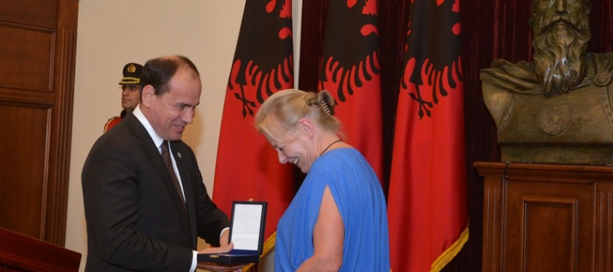 Polish actress honoured for role in award-winning Albanian movie