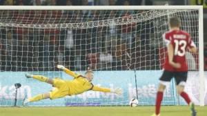 Albania's Ermir Lenjani scored the opening goal in last October's 1-1 qualifier home to Denmark