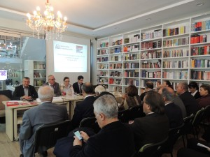 The survey was made public at the first event organized by the Center on Albania-Serbia Relations, a joint project of two leading think tanks in Tirana and Belgrade, AIIS and the Forum for International Relations of European Movement Serbia. (Photo: AIIS)