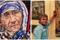 Albanian painter awarded Louvre medal for Mother Teresa portrait