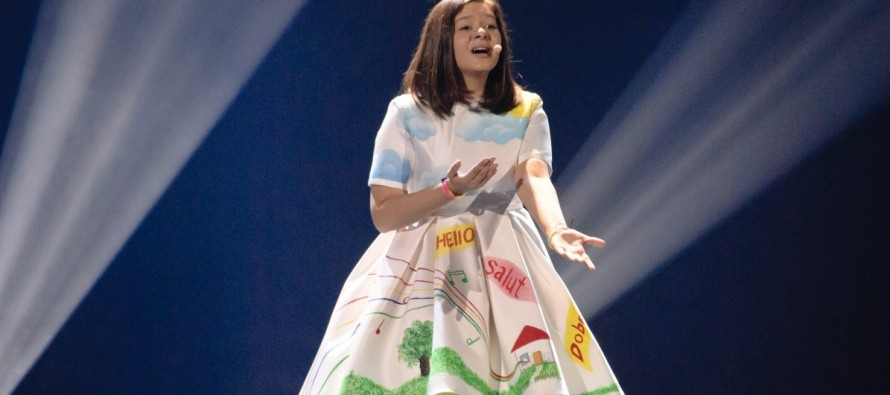 Albania makes it to the top 5 in the junior Eurovision