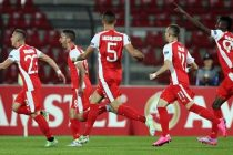 Skenderbeu claim first Europa League victory against Portugal's Sporting