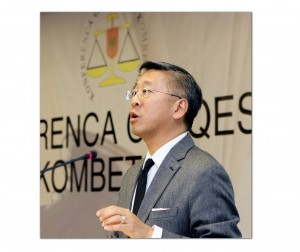 U.S. Ambassador Donald Lu's comments at the judicial system conference were the latest in a series he and his EU counterpart, Romana Vlahutin, have made urging a fight on corruption in the justice system. (Photo: U.S. Embassy/Facebook)