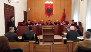 Albania's Constitutional Court in a recent session. (Photo: Archives)