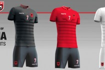 Football association unveils Albania's official Euro 2016 kits