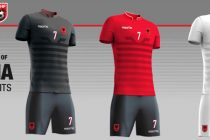Football association unveils Albania's official Euro 2016 kits