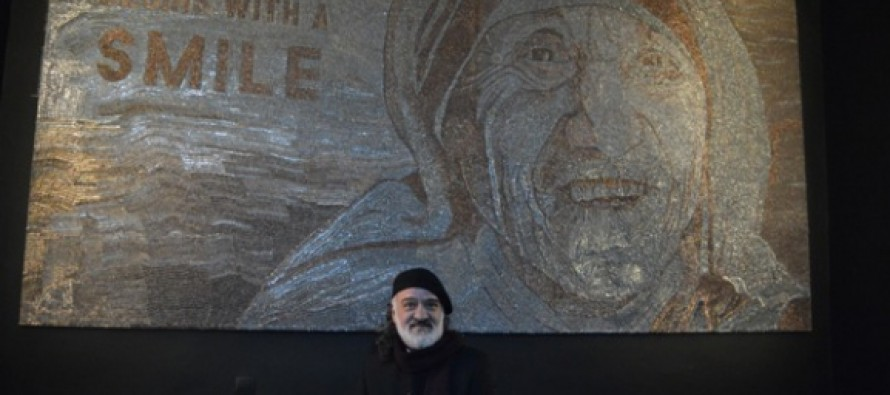 Saimir Strati completes giant St. Teresa mosaic on Independence Day