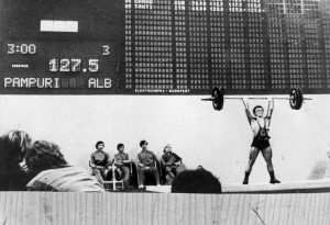 Pampuri sets a world record at the 1972 Munich Olympic Games
