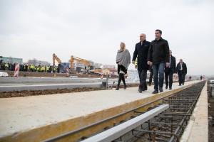 Prime Minister Edi Rama and Tirana Mayor Erion Veliaj walk in a construction area. (Photo: GoA/Facebook)