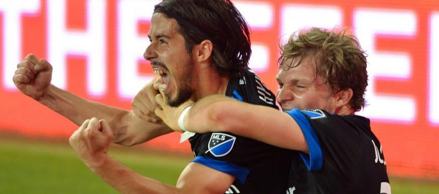Albania international scores first MLS goal