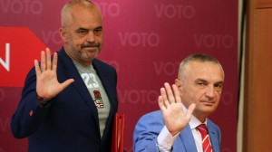 Prime Minister Edi Rama of the Socialist Party and Speaker of Parliament Ilir Meta of the Socialist Movement for Integration. (Photo: SP/SMI 2013 campaign)