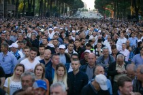 Albania opposition rally hit with unknown eye, face irritant, 76 seek medical attention