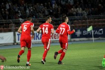 Skenderbeu back in the Superliga title race after injury time victory