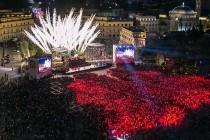 Tirana's landmark Skanderbeg square gets facelift ahead of elections