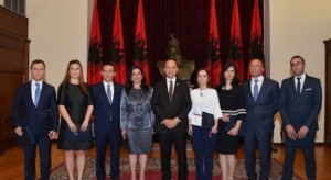 Democratic Party proposed ministers swore in at the President's office on May 22