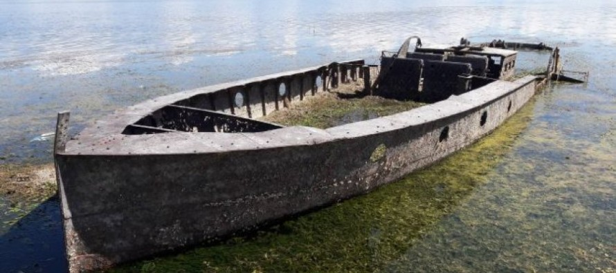 Prolonged drought brings to light Austro-Hungarian steamship in Albania lake