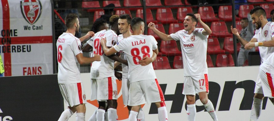 Skenderbeu claim first group stage point to keep Europa League qualification hopes alive