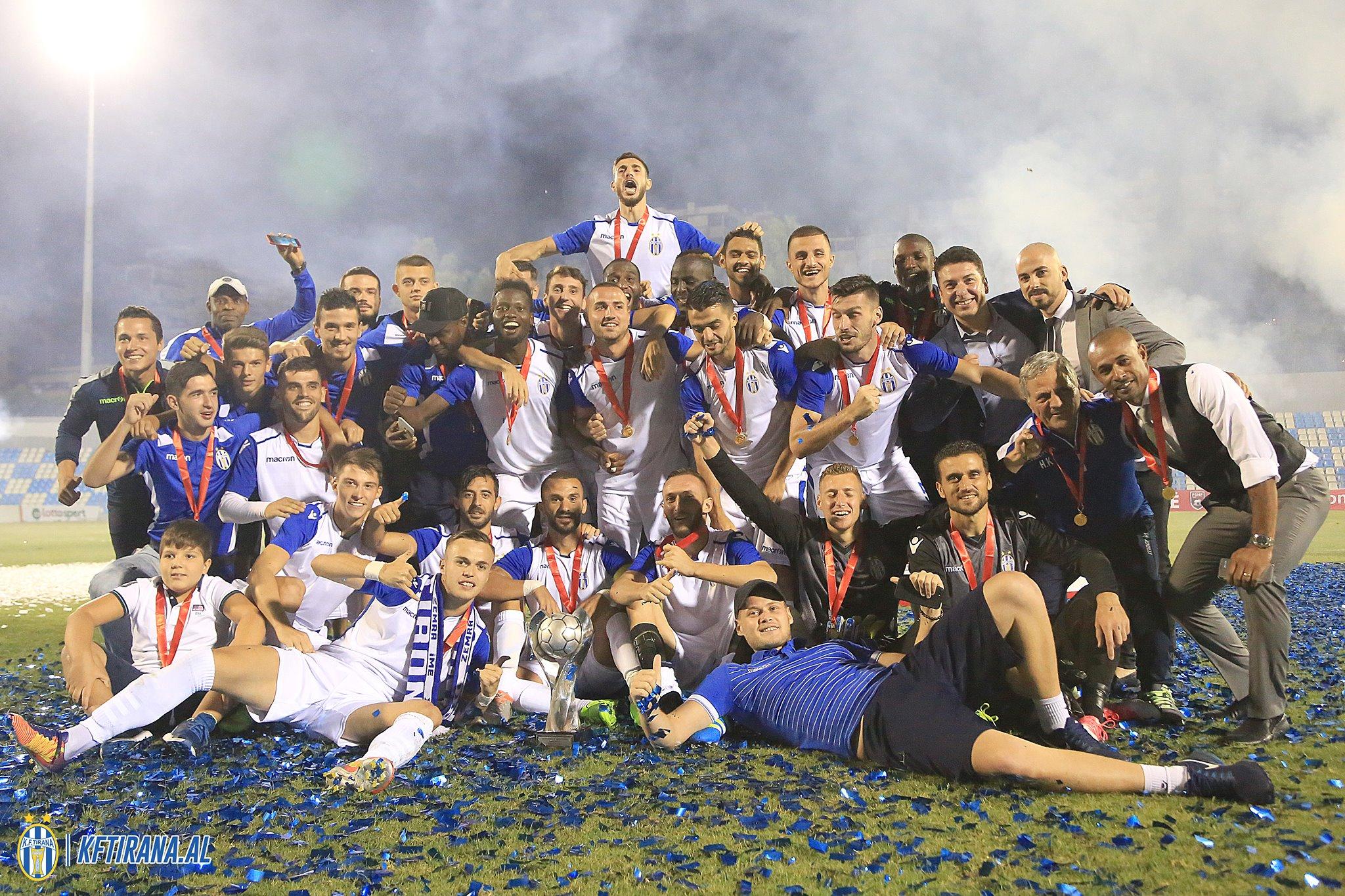 Newly relegated Tirana beat Superliga champions to win ...