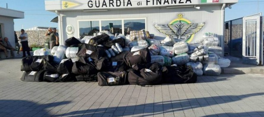 Italian police seize cannabis haul, arrest three Albanians on boat