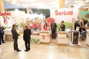 Serbian stand at the Tirana International Fair