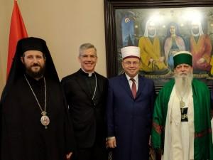 Nuncio with religious leaders