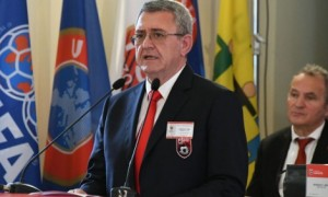 Armand Duka was re-elected as head of Albania's football association for a fifth four-year term