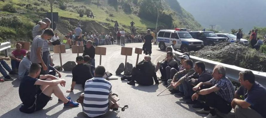 Protests against Valbona hydro-power plants resume in Albania's North