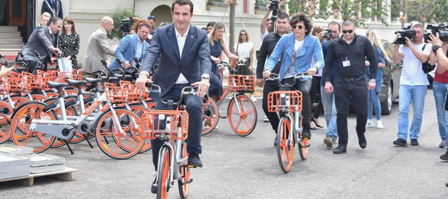 Mobike, the Chinese bike sharing giant, launches Tirana operations