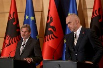 EU Enlargement Commissioner Johannes Hahn visits Tirana