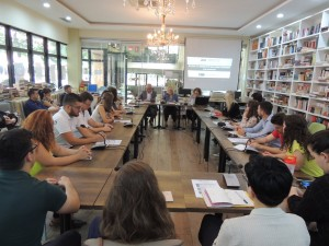 "Students attend the AIIS summer school on the ""New security environment in the Western Balkans: Challanges and Implications."" Photos: AIIS"