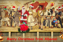 Albanians celebrate Christmas