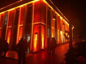 Roskovec community center in Fier region, southwest Albania, turned orange. Photo: UNDP Albania