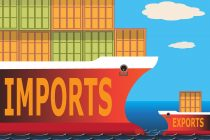 Decreased exports raise the trade deficit