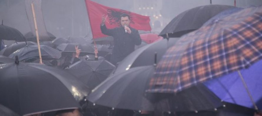 """Albanian opposition marches in protest of """"crime government"""""""