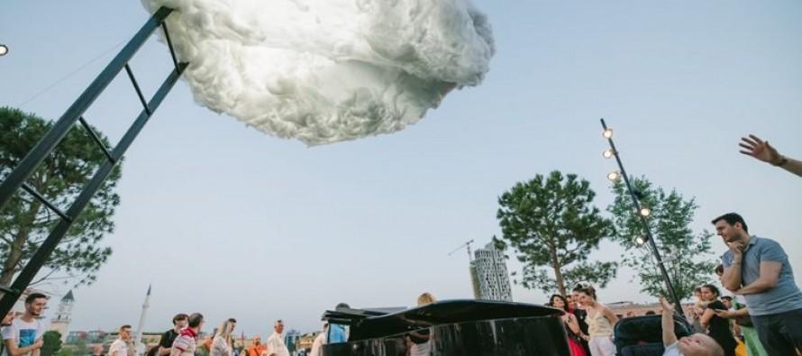 An unusual cloud in Tirana's sky