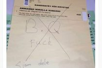 "CEC: ""Voter turnout at 22,97 percent, invalid votes at 5,5 percent"""