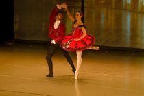 Ballerina Adela Mucollari performs in Rome competition