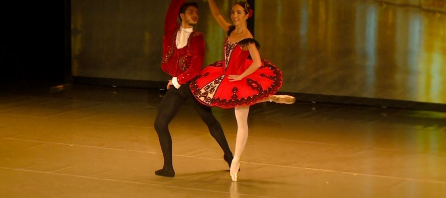 Ballerina Adela Mucollari performs in Rome competition