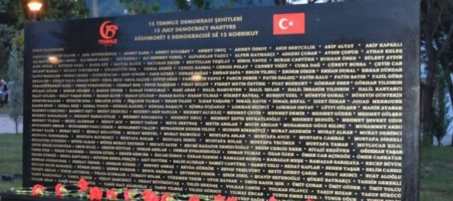 Debated memorial dedicated to Turkey's failed coup damaged in Tirana