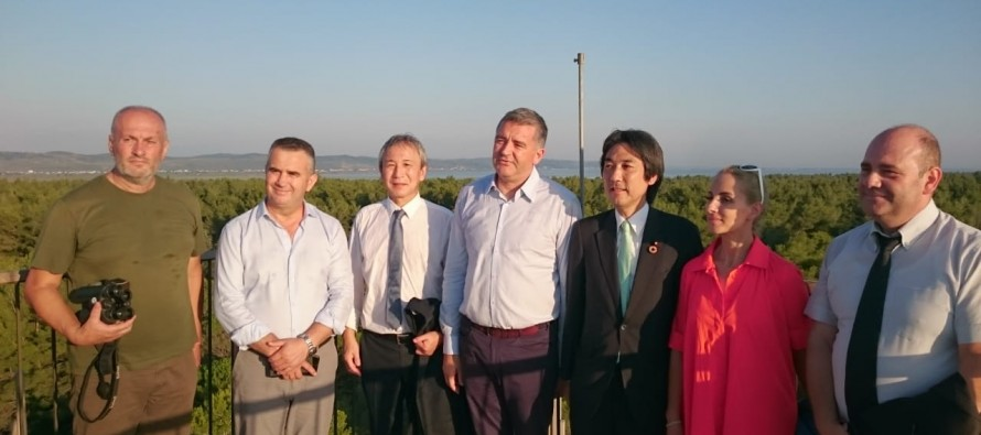 Japan State Minister for Environment visits Divjake National Park