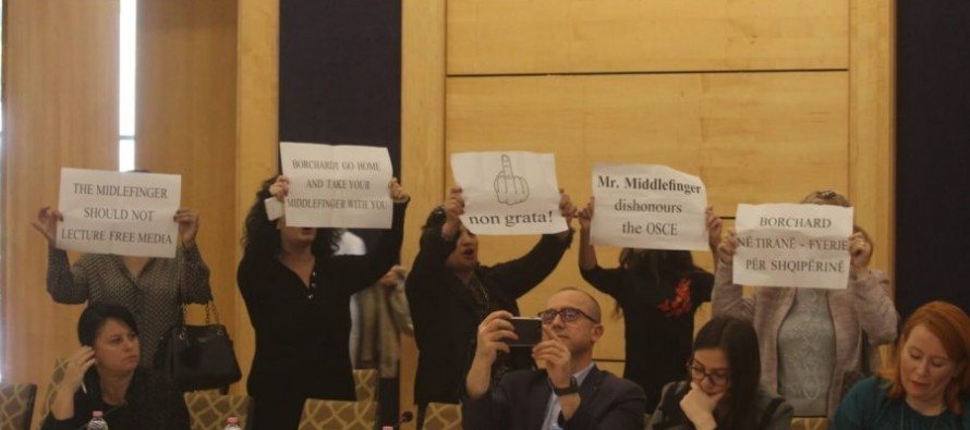 Protesters seek OSCE Ambassador's resignation during 'Media Development Forum'
