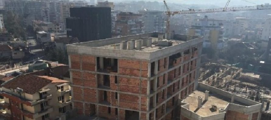 Area granted for buildings in Tirana increased by 60 percent since 2018, reaching record high