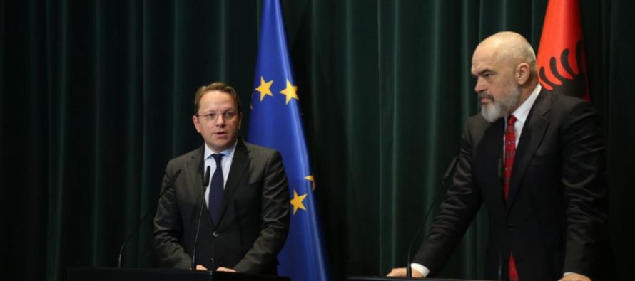 EC says it aims to open accession talks with Albania, N. Macedonia in March